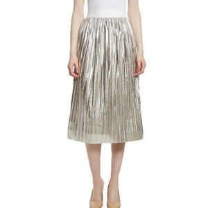 Alice + Olivia silver skirt